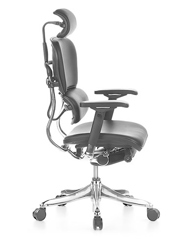 Ergohuman V2 Elite Leather Office Chair Side View