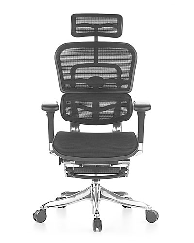 Ergohuman Elite wuth Legrest Mesh Office Chair Front View