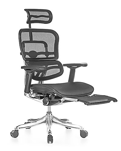 Ergohuman Elite with Legrest Mesh Office Chair Side View