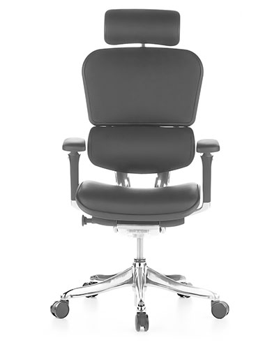 Ergohuman Luxury Leather Office Chair Front View