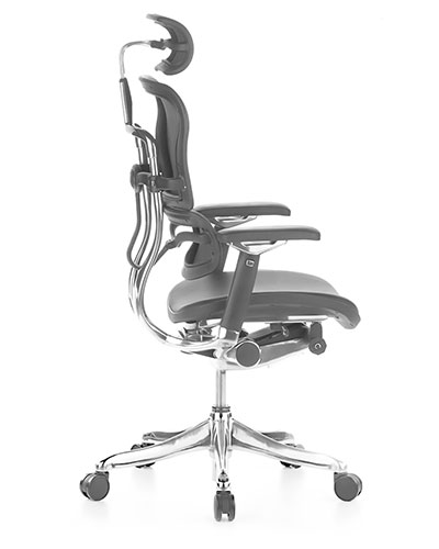 Ergohuman Luxury Leather Office Chair Side View