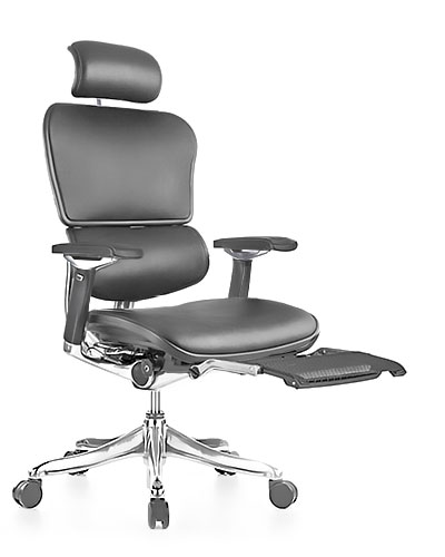 Ergohuman Luxury Leather with Legrest Office Chair Front View