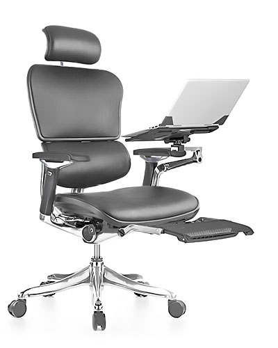Ergohuman Luxury Boost Leather Office Chair Front View