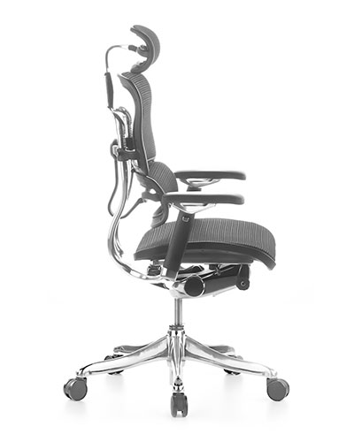 Ergohuman Luxury Mesh Office Chair Side View