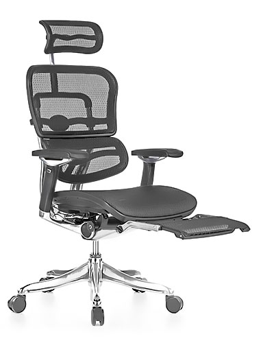 Ergohuman Luxury Mesh with Legrest Office Chair Front View