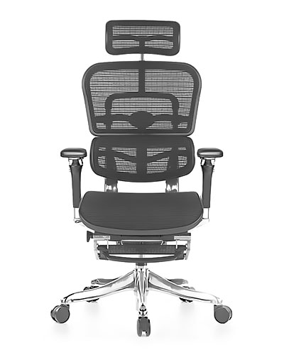 Ergohuman Luxury Mesh with Legrest Office Chair Side View