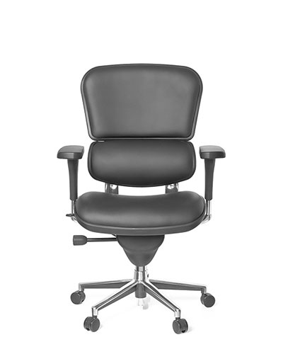 Ergohuman Classic Leather Office Chair Front View