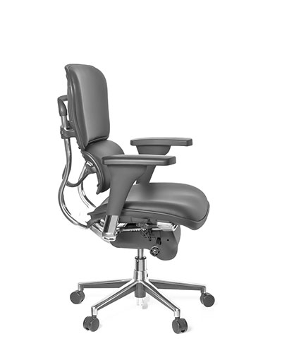 Ergohuman Classic Leather Office Chair Side View