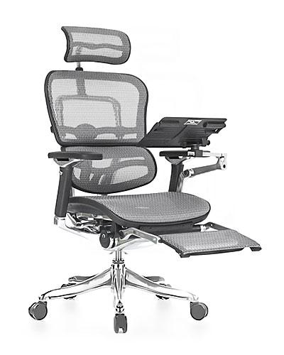 Ergohuman Luxury Boost Grey Mesh Office Chair Front View