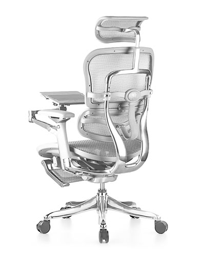 Ergohuman Luxury Platinum Boost Mesh Office Chair Front View