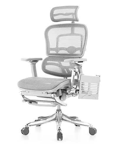 Ergohuman Luxury Platinum Boost Mesh Office Chair Side View